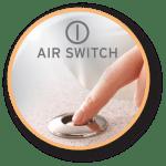 Broyeur 46 AIR le plus compact de la gamme. élimine 30 à 40% des déchets ménagers